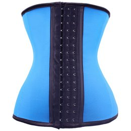 Wholesale Latex Body Pink - Top Body Shaper Steel Bone Latex Waist Trainer Women Cincher Rubber Waist Corset Underbust Sashes Shapewear Slim Belt