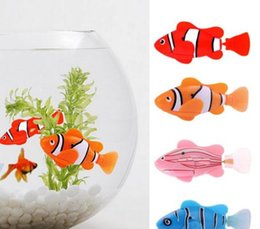 Wholesale Electronic Gifts Fish - New Swimming Robot Fish Activated in Water Electronic Toy Children Gifts