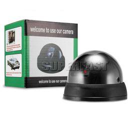 Wholesale Retail Pakage - Fake CCTV Camera Rainproof Dummy IR Camera Indoor Red LED Mock CCD Camera with Retail Pakage