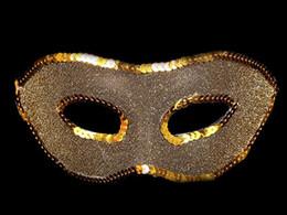 Wholesale Wholesale Glitter Masquerade Masks - New fashion party ball mask men women venetian masquerade wedding glitter cloth masks Christmas fancy dress props gold silver