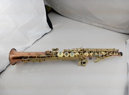 Wholesale Antique French Copper - New French Selmer 54 antique copper Soprano Saxophone Bb flat Soprano musical instrument performances DHL Shipping