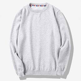 Wholesale Korean Knit Sweater For Men - Wholesale- New 2016 Autumn Fashion Men Slim Fit Thin Sweater Korean Ulzzang Style Solid Basic Jersey Jumpers For Man Plus Size