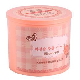 Wholesale Nail Polish Remover Cotton - Wholesale- 200Pcs Facial Cotton Pads Nail Polish Remover Cosmetic Makeup Wipe & Round Pink Box