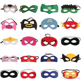 Wholesale Costume Eye Face Mask - Party Mask Superhero MASK Free Size Halloween Eyes Mask Ironman Wonder women Face Cosplay Costume masks Party for Kids