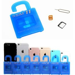 Wholesale Iphone 3g Tray - R SIM 11 RSIM11 rsim 11 r sim11 unlock card for iPhone 7 5 5s 6 6s 7 plus iOS 7 8 9 10 ios10 CDMA GSM WCDMA SB AU SPRINT 3G 4G No RPATCH