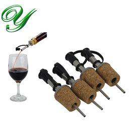 2019 rubinetti da birra bar Olio d'oliva spruzzatore distributore di liquori del sughero del vino versatori becco flip top della barra della birra in acciaio inox rubinetto tappo della bottiglia del tappo del rubinetto utensili Gli accessori rubinetti da birra bar economici