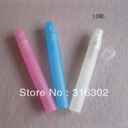 Wholesale Plastic Fragrance Spray Bottles Wholesale - Wholesale- 500 x 10ml Travell Mini Colorful Refillable Plastic Spray Bottles Perfume Empty Atomizer Fragrance Parfum Containers