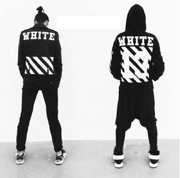 Wholesale Painted Jacket Leather - OFF WHITE 13 mens pullover stripe offset hoodies fleece Sweatshirts brand HBA Vision religion painting VIRGIL ABLOH leather jackets