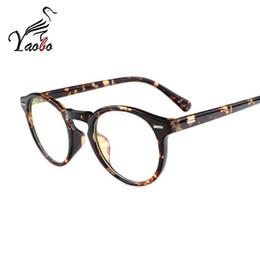 Wholesale Vintage Optic Glass - Yaobo Vintage Unisex Rivet Eyeglasses Frame With Clear Lens Women Men Retro Myopia Prescription Optic Frame Glass Oculos
