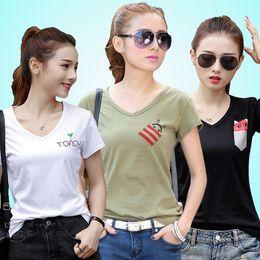 Wholesale Ladies Long Tops Designs - Fashion Summer New Design Women T Shirts Short Sleeve Cartoon Cat Printed Tops Cotton rabbit T-Shirts lady tops