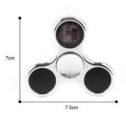 Wholesale Lighted Letters Wholesale - Fidget Spinners LED Spinner With 11 led can change different Pattern Luminous Light Letter Hand Spinner Finger spinner Tri-fidget