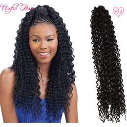 Haute qualité Freetress cheveux vague d'eau, cheveux européens pour le tressage, synthétique hari 22 pouces extension de cheveux au crochet tresses livraison gratuite en gros ? partir de fabricateur