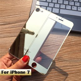 Wholesale Top Iphone Screen Protectors - Tempered Glass For iPhone 7 Case 4.7 Mirror Effect Screen Protector Colorful Front and Back 2 pcs HD Top Quality Hard Protect