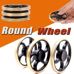 Wholesale Wholesale For 15 - 3 Style Round Wheel Brass Fidget Spinner Metal Aiming Circle Finger Spinner Fidget Toy Hand Spinner For Kids And Adults Free Ship