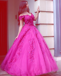 zuhair murad de vestido de pelota de hombro Rebajas Vestidos de noche románticos fuera del hombro Zuhair Murad vestido de fiesta vestido de fiesta palabra de longitud de encaje apliques vestidos de fiesta por encargo