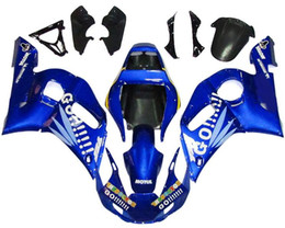 Wholesale Yamaha R6 Blue Fairing Kits - New TOP quality motorcycle ABS Fairing Kits 100% Fit For YAMAHA YZF-R6 98-02 YZF600 1998 1999 2000 2001 02 YZF R6 nice blue white GO!!!