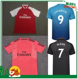 Wholesale 17 alexis LACAZETTE home away RAMSEY S CAZORCA WILSHERE GIROUD OZIL WALCOTT XHAKA jersey sports red sport shirt