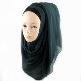 Wholesale Amira Scarf - Wholesale- 11 Colors Muslim Hijab Wrap Shawls Women Lady Headwear Amira Islamic Long Scarf WY-01