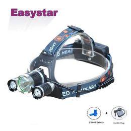 Wholesale T6 Lamp Plug - Wholesale-Easystar 6000 Lumens Cree XM-L T6 Head Lamp High Power LED Headlamp +2pcs 18650 6000mah batteries +EU US Plug
