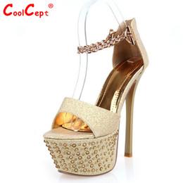 Wholesale Ladies Women Sandal Platform Slippers - Wholesale-women high heel sandals platform fashion woman dress sexy slippers ladies heeled footwear heels shoes P6051 EUR size 34-39