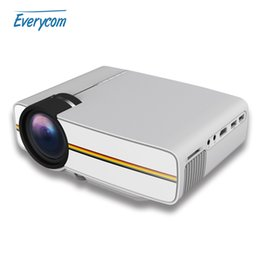 Wholesale Projector Brands - Wholesale-2016 new LCD projector 1000 Lumens gm61 support 1920 x 1080P video portable LED home theater Cheap brand HDMI projector Beamer