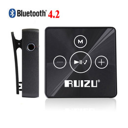 Wholesale Music Musicians - Wholesale- Ruizu X15 Digital Lossless Sport Hifi Audio Mini Clip Mp 3 Music Mp3 Player Bluetooth 8GB With Flac Running SD Musician Car WAV