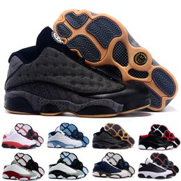 Wholesale Quai 54 - Retro 13 Low Quai 54 Bred top quality man basketball shoes retro Low Hornets sports shoes size eur 41-47