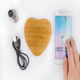 Wholesale Heart Shape Love Phone - QI Wireless Charger Bamboo Wood Of Love Heart Shape ,Fashion Wireless Charger Receiver For All The Phone Can Connect
