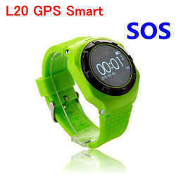 Wholesale Gsm Phone System - New Children smart wear watch Wholesale L20 phone Anti-lost child positioning GSM cell phone GPS systems precise SOS Emergency