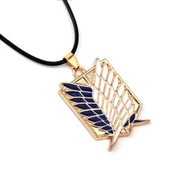 Wholesale American Animation - 2017 New arrive Hot animation jewelry attack giant investigation Corps logo necklace movie necklaceWholesale Investigation Corps