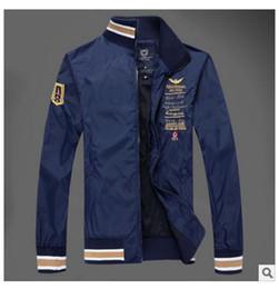 Wholesale top winter jackets brands - Fall-New Arrival top brand outdoors clothes Men winter Fleece Jacket, Air Force One Windbreaker Jacket , Aeronautica Militare Coat