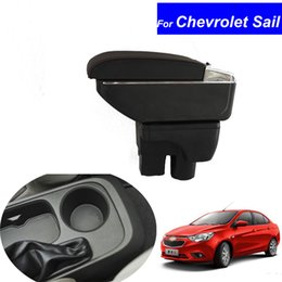 Wholesale Chevrolet Sail - Leather Car Center Console Armrests Storage Box for Chevrolet Sail 2015 2016 2017 Auto Interior Parts Accessories Free Shipping