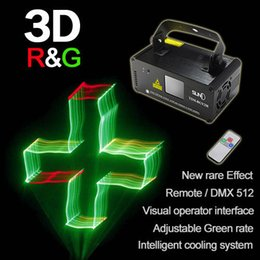 Wholesale Dj Laser Light 3d - Wholesale- SUNY Remote 3D Stereoscopic DMX 512 Lighting Scanner 250mw RGY Laser Stage DJ Show Light Effect Projector Fantastic Disco Beam