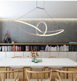 Wholesale Boat Chandelier - Acrylic boat minimalist led pendant light led hanging lamp suspension chandeliers livingroom indoor lighting fixture Aluminium AC90-265V