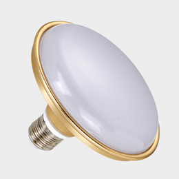 Wholesale High Power Led Screw - Golden Led flying saucer bulb E27 screw port home lighting super bright white light high power energy saving bulb ball lamp
