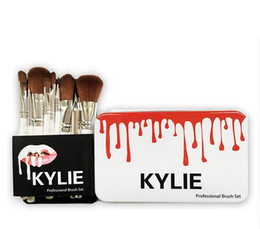 Wholesale Top Quality Makeup Kits - New Arrival Kylie Makeup Brushes Makeup Bush 12pcs set Kylie Brush Foundation Blush Powder Makeup Tools Top Quality Free DHL