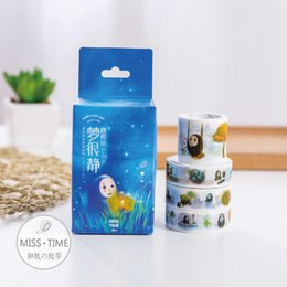 Wholesale Kawaii Deco Tape Wholesale - Wholesale- 2016 4 Pcs lot Cute Kawaii No Face Male Dream Japanese Washi Tape Decorative Deco Adheisive Paper Masking Stationery Scrapbooki