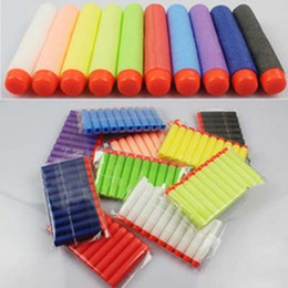 Wholesale Electric Soft Gun - Nstrike Elite Rampage and Retaliator bullets Clip Darts electric toys foam bullets guns soft bullet outdoor toy bullet 10 colors A01