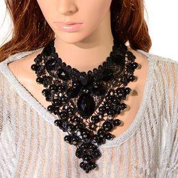 Wholesale Wedding Lace Chokers - Exaggerate Elegant Bud Silk Fashion Lace choker necklace Bridal Wedding party wear