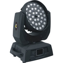 Rgbaw dmx online-Spedizione gratuita Guangzhou Stage Lighting CE DMX Zoom RGBAW 36x15W 5in1 LED Wash Moving Head Light