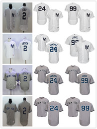 Wholesale Gary Mix - New York Yankees Jersey 2 Derek Jeter 24 Gary Sanchez 99 Aaron Judge Baseball Jerseys Accept Mix Orders