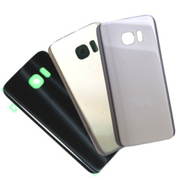 Wholesale Door Lens Camera - YOU KIT For Samsung Galaxy S7 G930 Glass Battery Cover Rear Back Housing Door With Camera Lens Adhesive