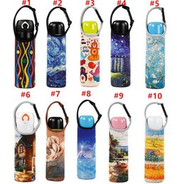 Wholesale Bicycle Insulated Bottle - new Beer Bottles Insulated Bag Cover Carrier Bag Neoprene Pouch Straps Bicycle Bottle Holder for Beer Bottle Cooler with Keyring Bottle Open