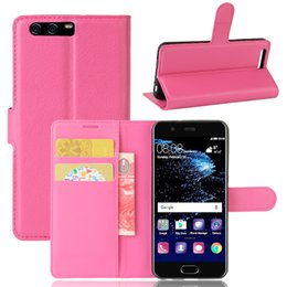 Wholesale Huawei Ascend Flip Case - For Huawei P10 Mate9 Lite Enjoy 6S Ascend XT MAGIC Prosche Y5 II Honor 5A Litchi Skin Flip Wallet Card Leather Case Stand Holder Cover 30pcs