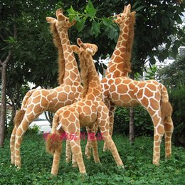 Wholesale Giraffe Plush Toys - Wholesale- Artificial animal giraffe plush toy doll supplies home accessories Large size about 95cm gift