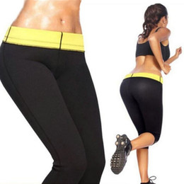 Wholesale Size Slimming Leggings - Hot Sweat Neoprene Shapers Control Leggings Slimming Pants Thigh Cincher Girdle Sport Gym Trousers for Women S-XXXL Sizes Run Small Limited