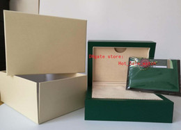 Wholesale Paper Sales - factory sale Hot selling New style Green Brand Original Box Papers Gift Watches Boxes Leather bag Card 185mm*134mm*84mm Free Shipping