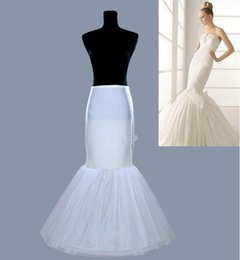 Wholesale Trumpets For Cheap - Cheap Free Shipping Mermaid Petticoat For Wedding Dress White Bridal Underskirt One Size Crinoline In Stock