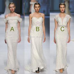 Wholesale Black Embellishment Chiffon Gown - real photos vestido de noiva mermaid wedding dresses 2018 full heavily embellishment sweep train wedding gowns