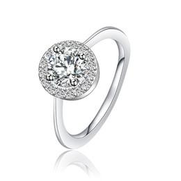 Wholesale Wholesale Womens Diamond Rings - Womens Jewelry Rings Circular Bead Round Ring Diamond Platinum Ring Wedding USA (5 6 7 8 9 10) XPXR1030
